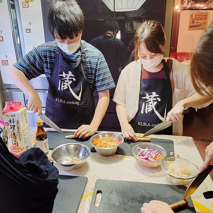 「和食を作る」の様子
